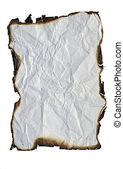 isolated grunge paper with burned edges - Image of the...