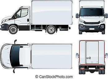 Vector truck template isolated on white. Available EPS-10...
