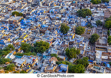 """Jodhpur the """"blue city"""" in Rajasthan state in India. View..."""