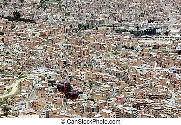 bolivian capital La Paz - scenic view to bolivian capital La...