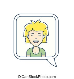 Chat bubble with avatar