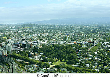 Auckland - Top view of the Auckland suburb of New Zealand
