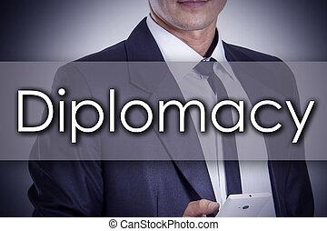 conceito, negócio, diplomacia, texto, -, jovem, homem...