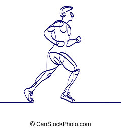 Continuous line drawing of RUNNER