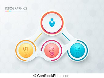 Abstract elements for infographic. Template for diagram, graph, presentation and chart. Business concept with 3 options, parts, steps or processes