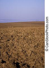 Ploughed field - tillage, agriculture, farming, land, spring