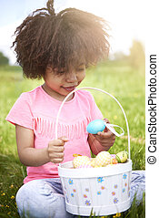 Easter time for little african girl