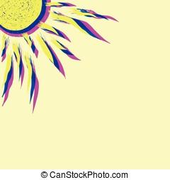 Vector sun illustration