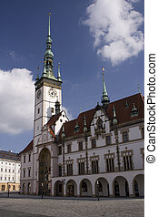 Town hall in Olomouc, Czech republic with astronomical...