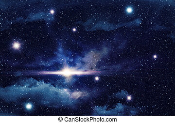 Star Field Background - Colorful starry outer space...