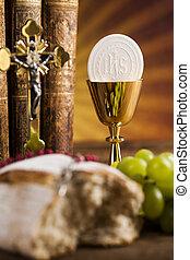 Eucaristia, comunione, sacramento, fondo