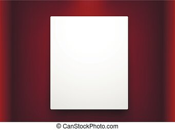 empty frame on red wall