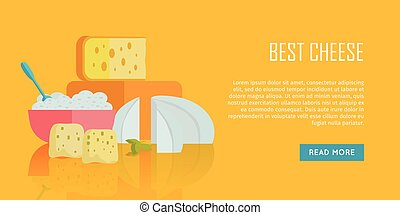 Best cheese banner. Natural Farm Food. - Best cheese banner....