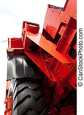 Front of Giant vintage mining truck - Front and wheel of...