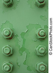 bolted steel background pattern - Painted bolts of steel...