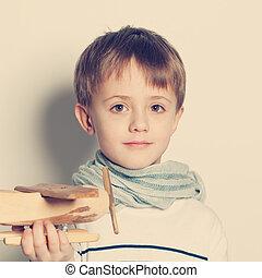 玩具, 2UTE, 孩子, 肖像, 男孩