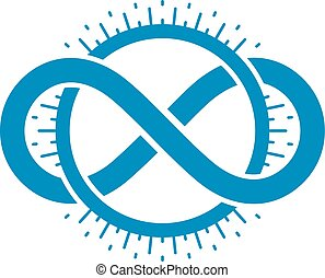 Endless Infinity Loop conceptual logo, vector special sign.