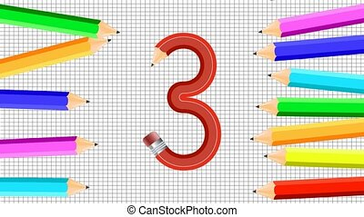 Appears the numbering of the pencils on the background of...