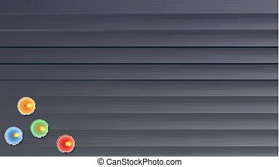 Wooden planks background with  wax,  burning, aroma candle, a view from the top. Template for greeting cards, invention or greetings.