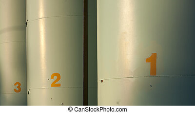Fuel tanks - Numbered tanks for fuel storage