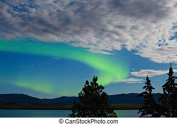 Aurora borealis Northern lights display - Intense Aurora...