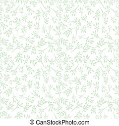 Floral seamless background with small leaves, twigs of...