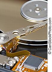 Harddisk Component - 100mm macro image of a harddisk...