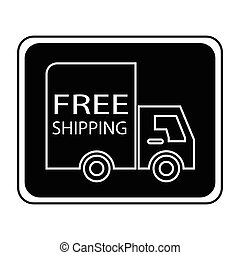 free shipping truck square - simple flat black free shipping...