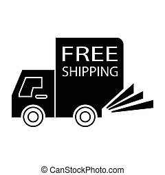 free shipping truck small - simple flat black free shipping...