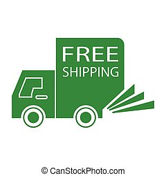 free shipping truck small - simple flat colour free shipping...