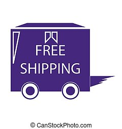 free shipping truck box - simple flat colour free shipping...