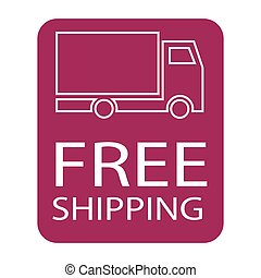 free shipping truck symbol - simple flat colour free...