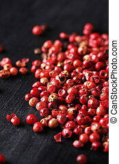 Red peppercorn - Dried red peppercorn on the table