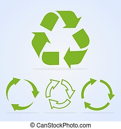 Recycled cycle arrows vector icon set illustration isolated...