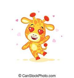 Emoji hello hi waving in love hearts you are cute character...