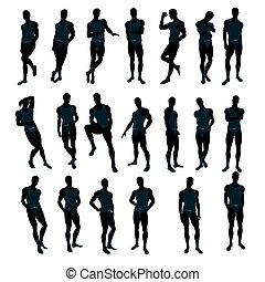 Male Underwear Model Silhouette - Male model wearing...