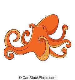Octopus icon, cartoon style - Octopus icon. Cartoon...