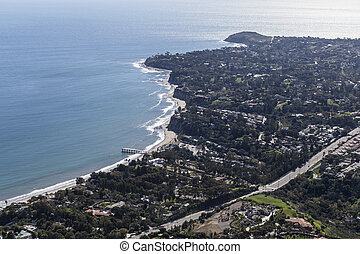 Malibu Aerial Point Dume and Paradise Cove - Aerial view...