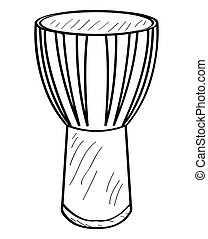 Isolated conga outline - Isolated outline of a conga drum,...