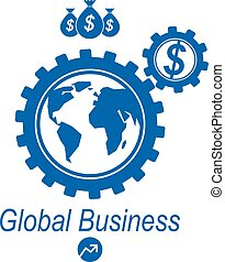 Global Business and E-Business creative logo, unique vector...