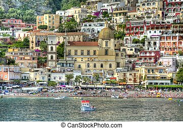 Positano in HDR - The Italian city of Positano in HDR