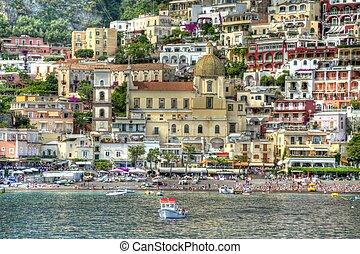Positano in HDR - The Italian city of Positano in HDR.