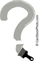 Vector hand-drawn question mark isolated, punctuation mark...