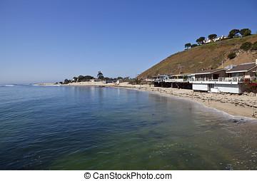 Malibu Bay near Surfrider beach on a clear calm morning