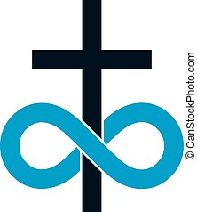 Immortal God conceptual symbol combined with infinity loop...
