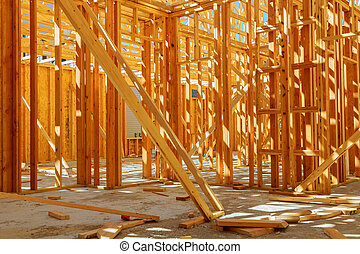 Framed building or residential home with basic