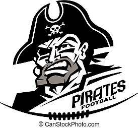 pirates football - heroic pirates football mascot team...