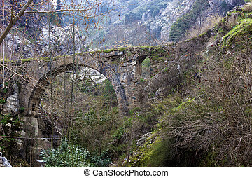 Historic bridge in Manisa, Turkey - Historic bridge next to...