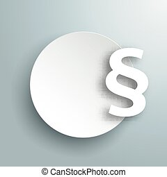 Paper Circle Paragraph Gray - Paper circle with paragraph on...