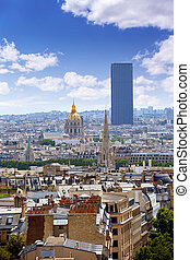 Paris skyline Invalides golden dome France - Paris skyline...